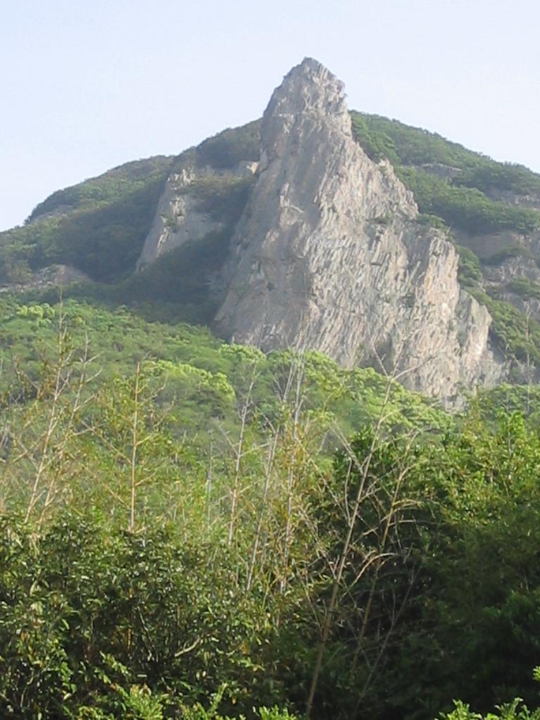 瀬戸内海小豆島拇岳の岩場です。