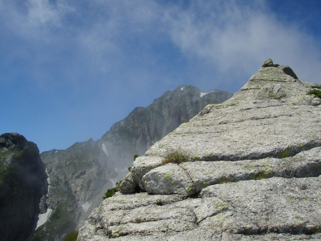 剱岳 �峰Cフェース 剣稜会ルート 終了点から剱岳を望む