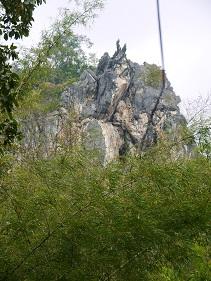 チェンマイの岩場