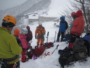 天神平で雪上訓練