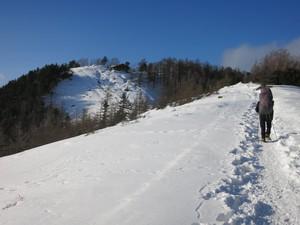正月 雪の雲取山