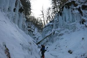 佐久湯川の氷