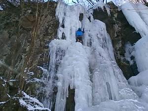 神津牧場の氷瀑