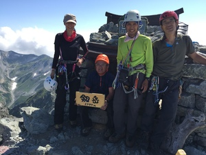 源次郎尾根を経て剱岳登頂