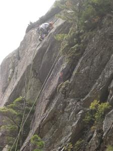 ペンギン岩の新ルート