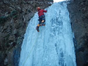 神津牧場ヤエグロ沢の氷瀑