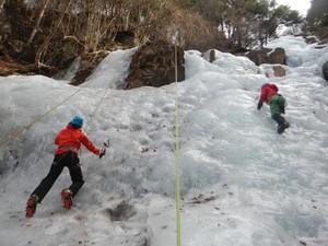 三つ峠 鐘ヶ窪沢の氷瀑