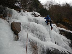 三つ峠 金ヶ窪沢の氷
